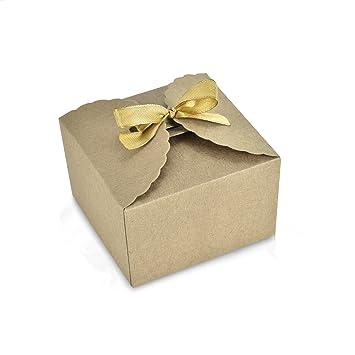 24 cajas de papel kraft para manualidades de Syndecho, caja de regalo para dulces,