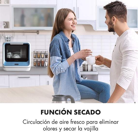 Klarstein Amazonia Mini - Lavavajillas, Máquina lavaplatos, 6 ...