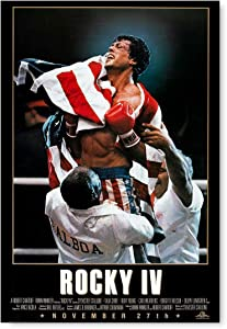 """Funny Ugly Christmas Sweater Rocky Balboa Poster Art for Office Rocky IV Poster Wall Art Sylvester Stallone Portrait Rocky Movie Poster Iconic American Actor Photo 15"""" x 22"""""""