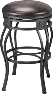 Revel New Monarch 30  Backless Metal Bar Stool Old Steel Finish w/Brown  sc 1 st  Amazon.com & Amazon.com: Hillsdale Montello Backless Swivel Bar Stool Old ... islam-shia.org