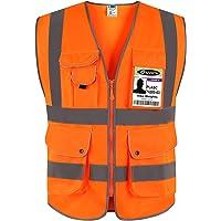 JKSafety Nueve bolsillos Nivel 2 Uniforme trabajo Chaleco