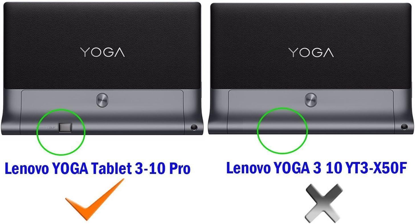 IVSO Lenovo Yoga Tab 3 Pro 10.1-Inch Funda Cover Slim-Book Case ...