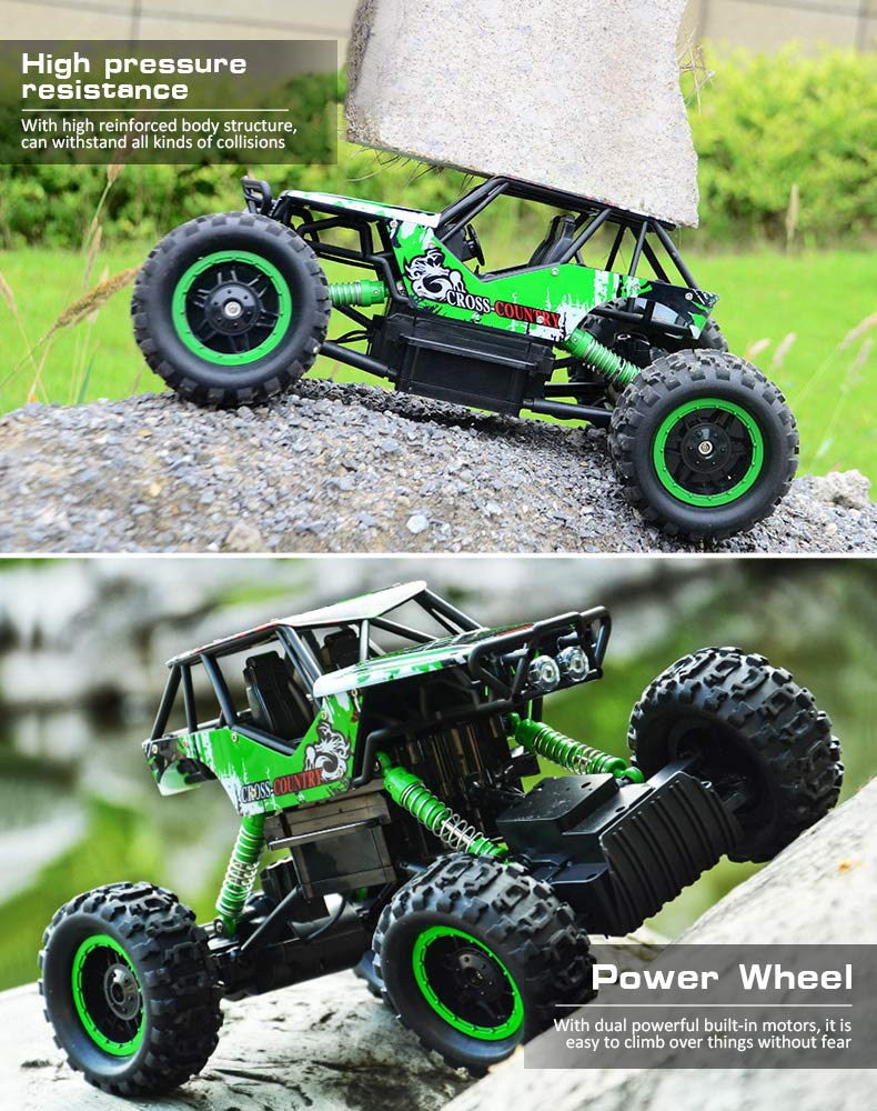 Double E 1/12 RC Rock Crawler Remote Control Truck 4WD Rechargeable Vehicles Off-Road Car by DOUBLE  E (Image #5)