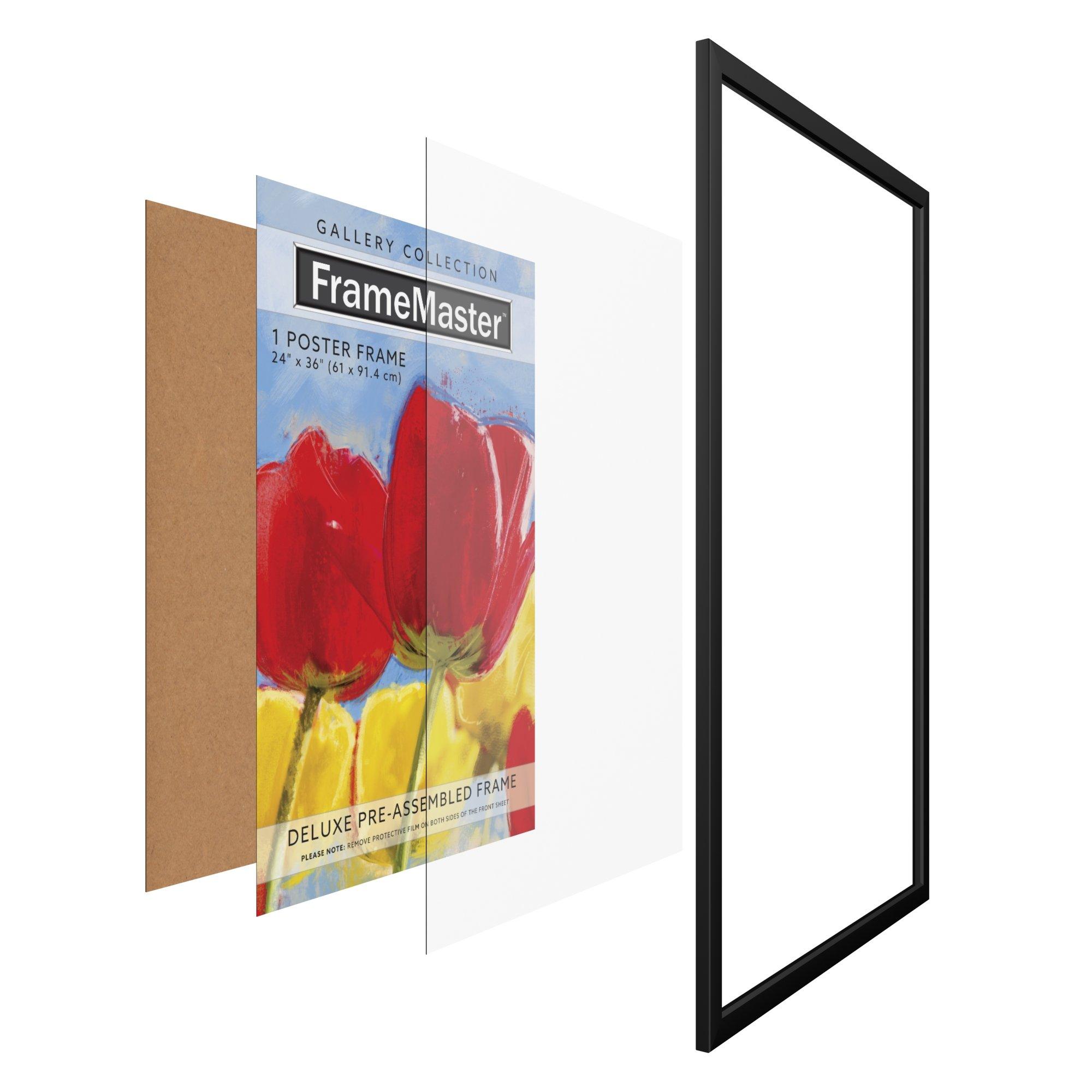 FrameMaster 24x36 Poster Frame (1 Pack), Black Wood Composite, Gallery Edition by FrameMaster (Image #5)