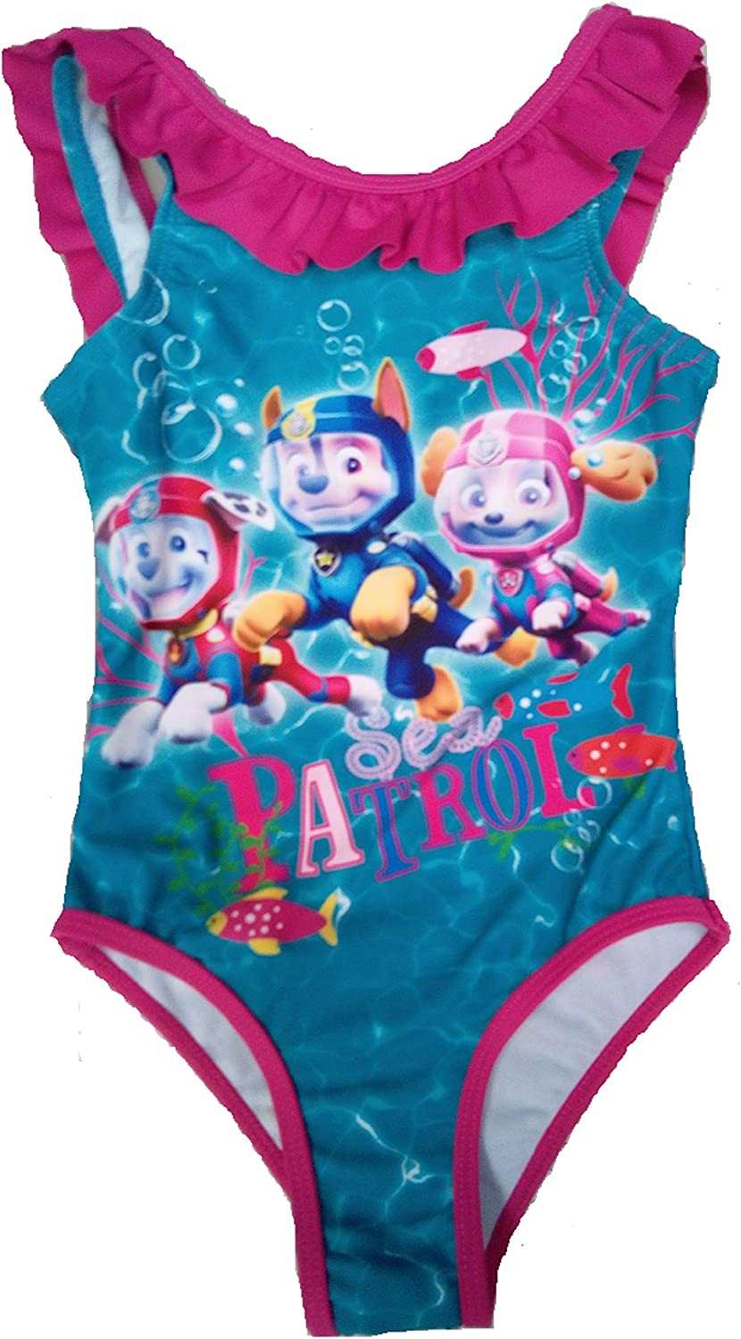 Girls Paw Patrol Swimming Costume Age 2 3 4 5 6 Years Character Official Summer Swim Wear