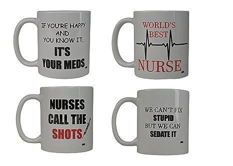 21fd78e48f6 Amazon.com: Funny Murse Coffee Mug Gift Set Best Novelty Cup Gift ...