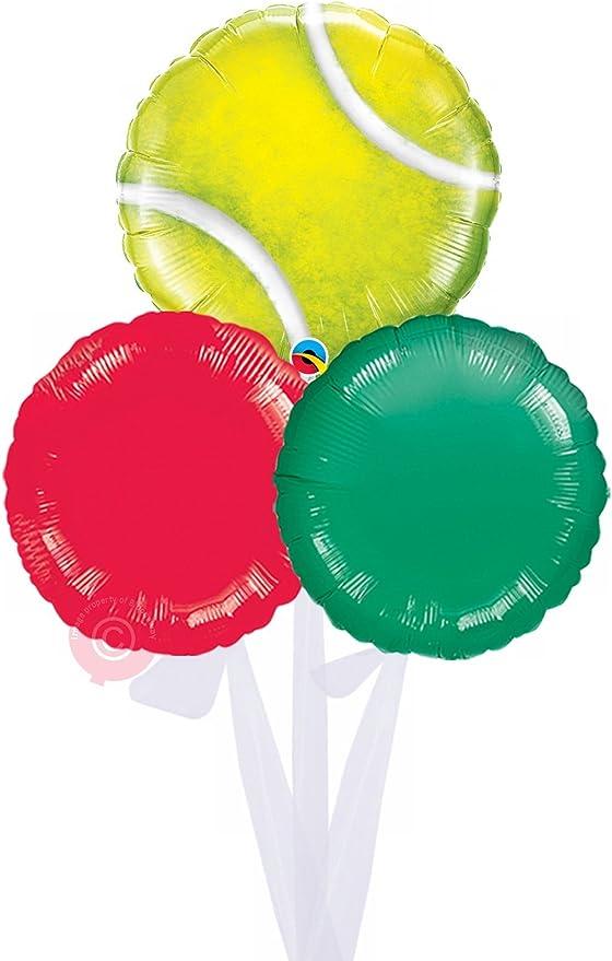 Pelota de tenis – inflado globo de helio se entrega en una caja ...