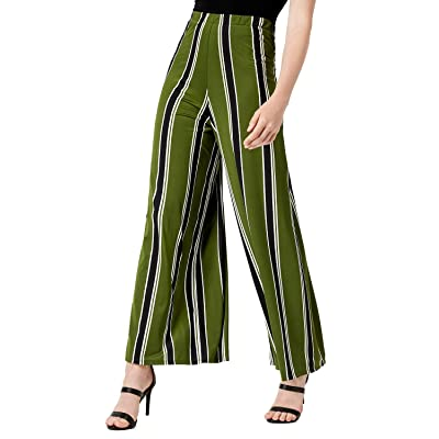 Bar III Striped Wide-Leg Pants at Women's Clothing store