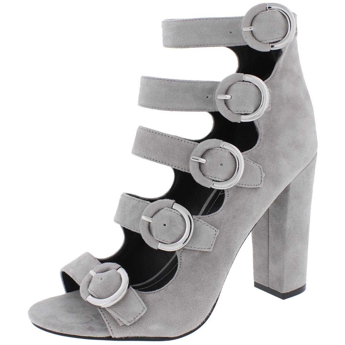 KENDALL + KYLIE Evie Women US 8.5 Gray Sandals