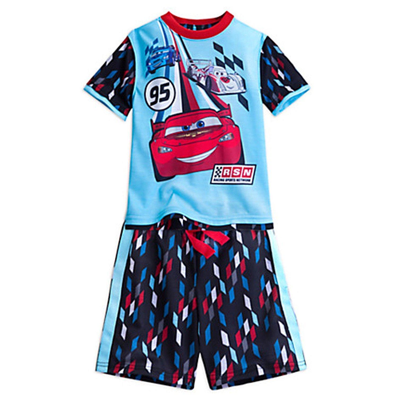 Disney Store Cars Lightning McQueen PJ Pals Short Sleep Set for Boys