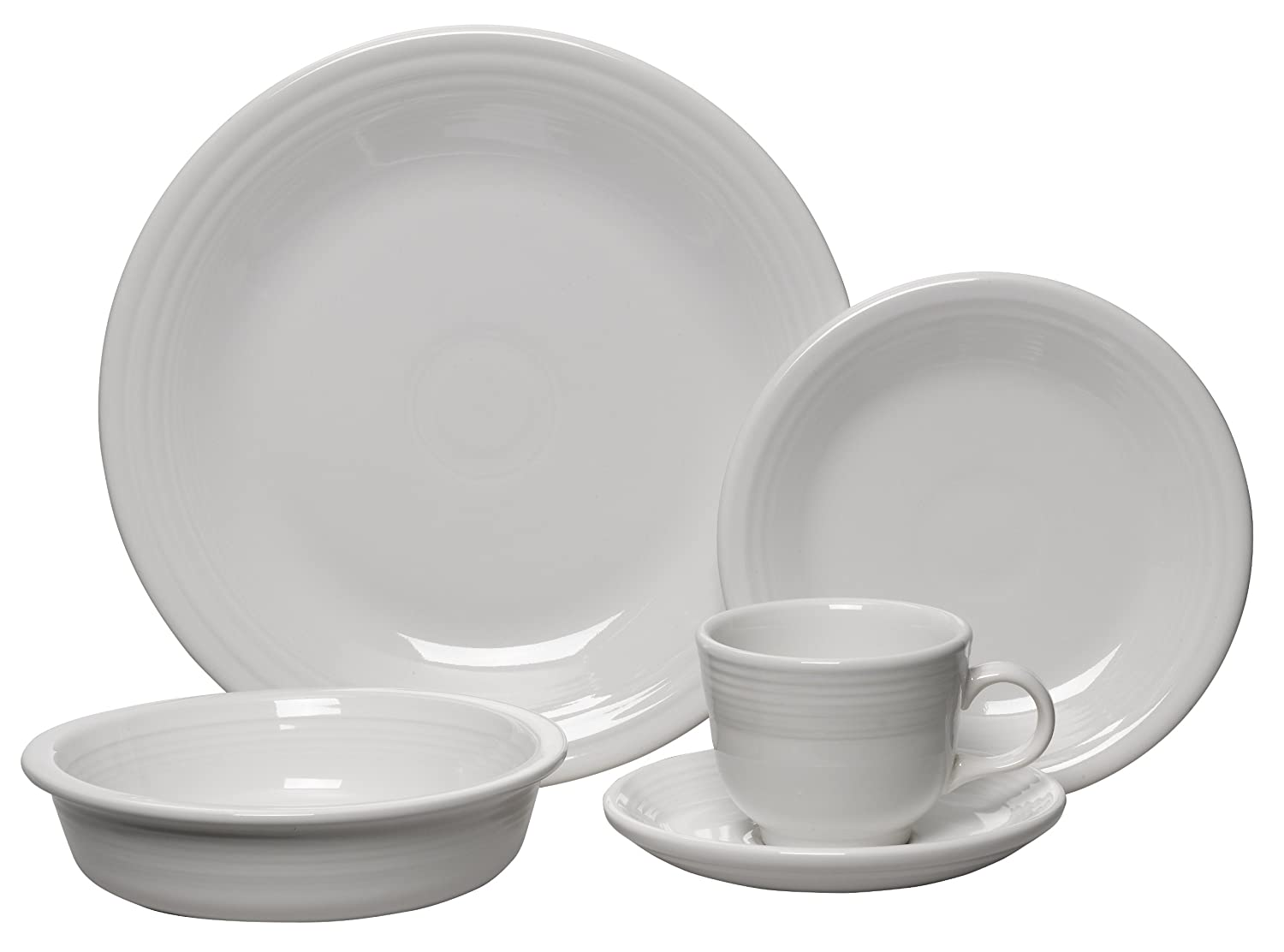 amazoncom fiesta piece place setting white kitchen  dining -