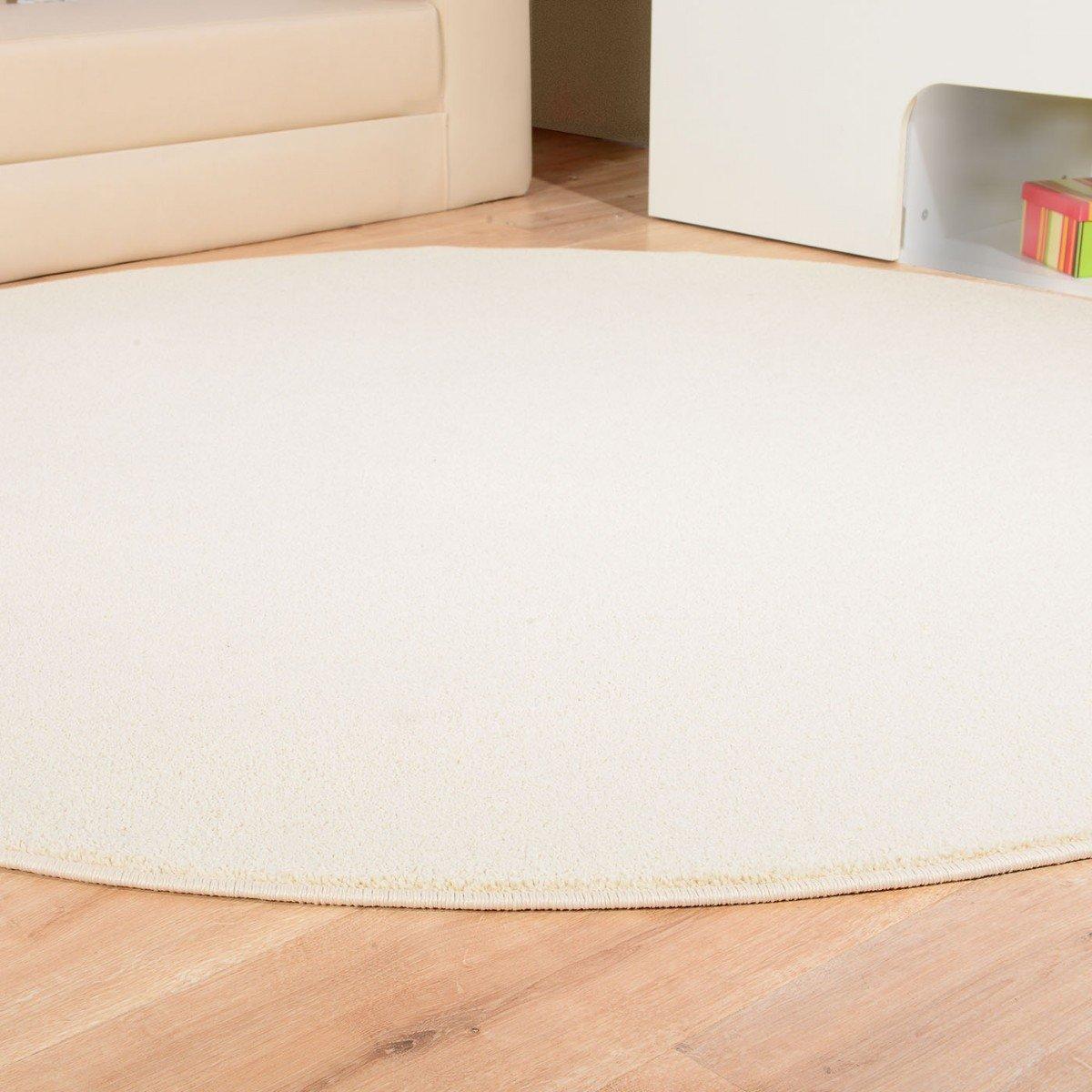 Havatex Teppich Kräusel Velour Velour Velour Burbon rund - 16 moderne sowie klassische Farben   schadstoffgeprüft pflegeleicht & robust   ideal für Wohnzimmer, Farbe Rot, Größe 180 cm rund B00VUMD8ZQ Teppiche d14114
