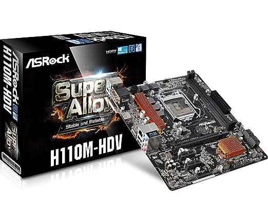 31 opinioni per ASRock H110M HDV Intel 1151 Scheda Madre, Nero