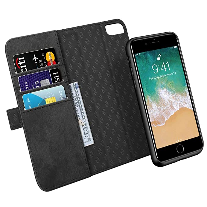 new product 7bed6 63255 Zover Compatible with iPhone 8 Plus 7 Plus 6 Plus Detachable Wallet Case  Premium PU Leather [RFID Blocking] Flip Folio Cards Holder Support Wireless  ...