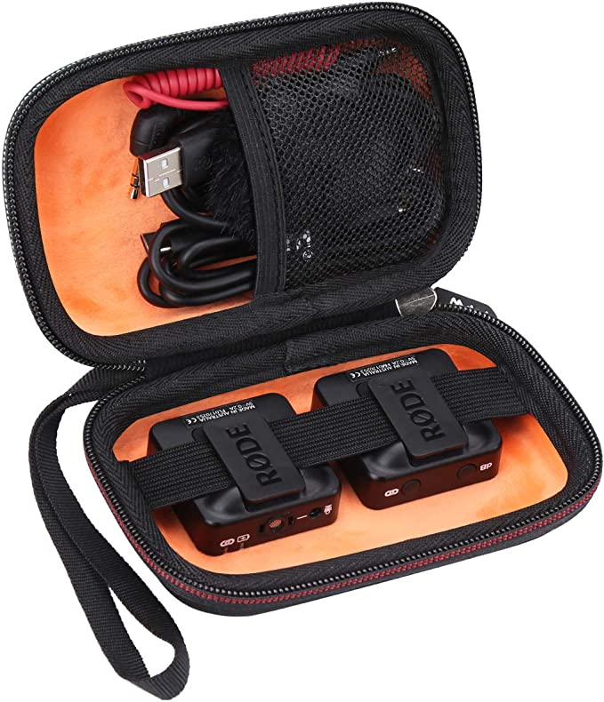 Compact Wireless Microphone Hard Travel Case Bag for Rode Wireless Go