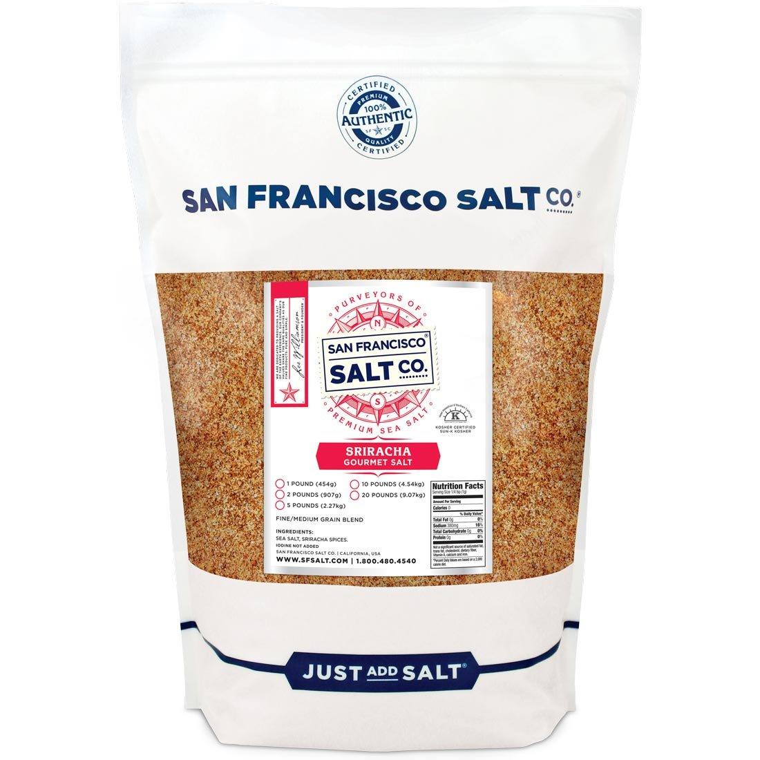 Sriracha Salt 2 lb. Bulk Bag - Fire Up Your Taste Buds, Spicy Sea Salt Blend with Hot Chimayo Pepper, Habanero Pepper & Garlic Powder