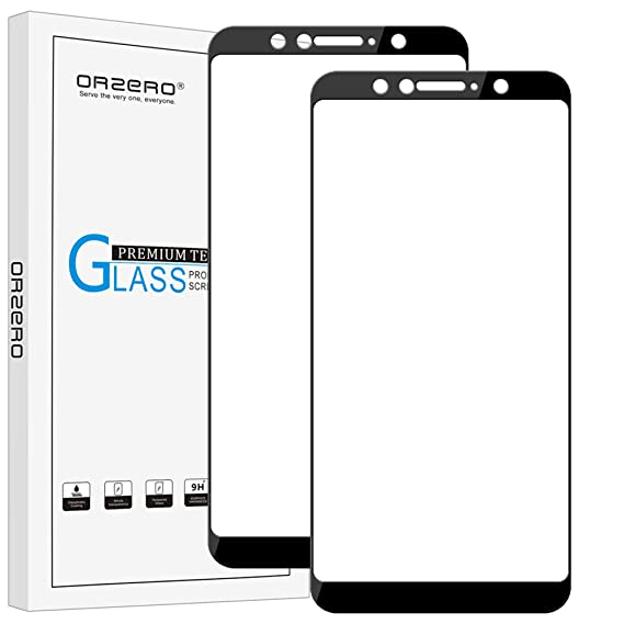 [2 Pack] Orzero for ASUS ZenFone Max Pro M1 ZB601KL Tempered Glass Screen  Protector, 2 5D Arc Edges 9 Hardness HD Anti-Scratch Full-Coverage  [Lifetime