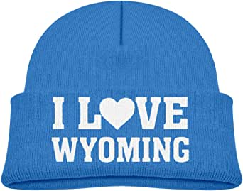 ADGoods Kids Children I Heart Love Wyoming Beanie Hat Knitted Beanie Knit Beanie For Boys Girls Gorra de béisbol para niños