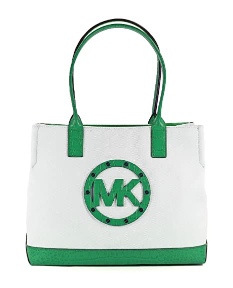 Amazon.com: Michael Michael Kors Sutter lona Grande bolsa, L ...