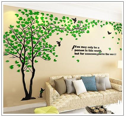 Amazoncom Tree Birds 3D Wall Stickers Tree Wall Murals Acrylic