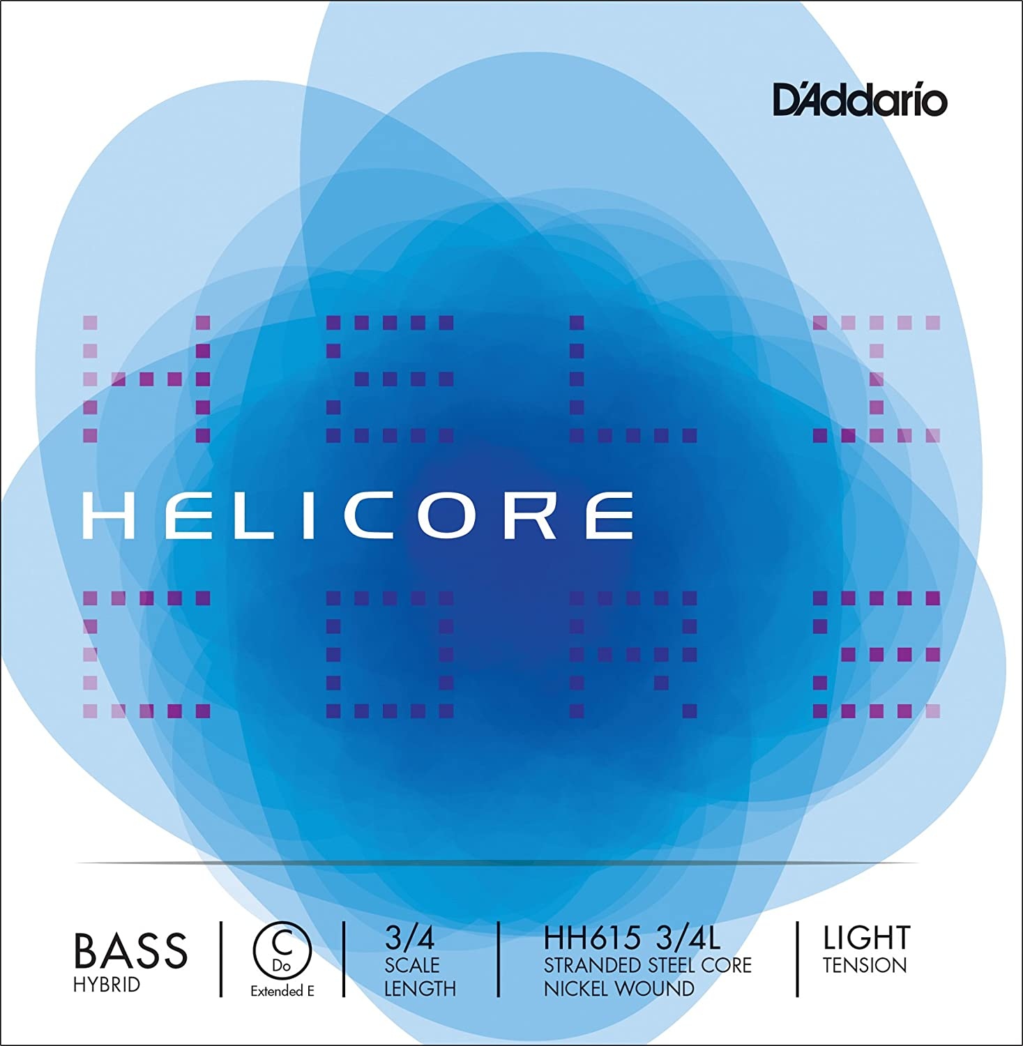 D'Addario Helicore Hybrid Bass Single C (Extended E) String, 3/4 Scale, Medium Tension D'Addario HH615 3/4M