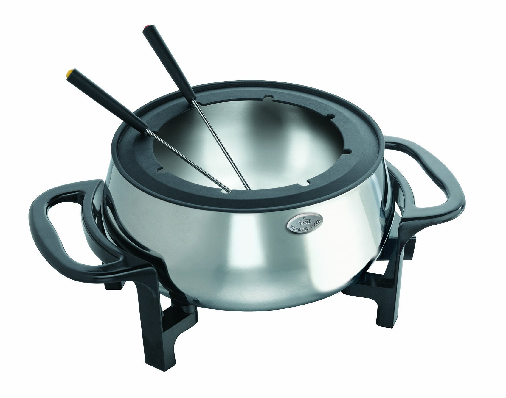 Rival Stainless Steel Electric Fondue Pot Set by Rival