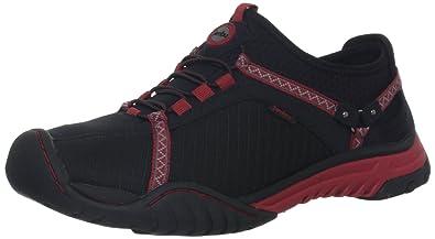 Jambu Bianca Womens Black / Deep Red Textile Walking Trail Shoes
