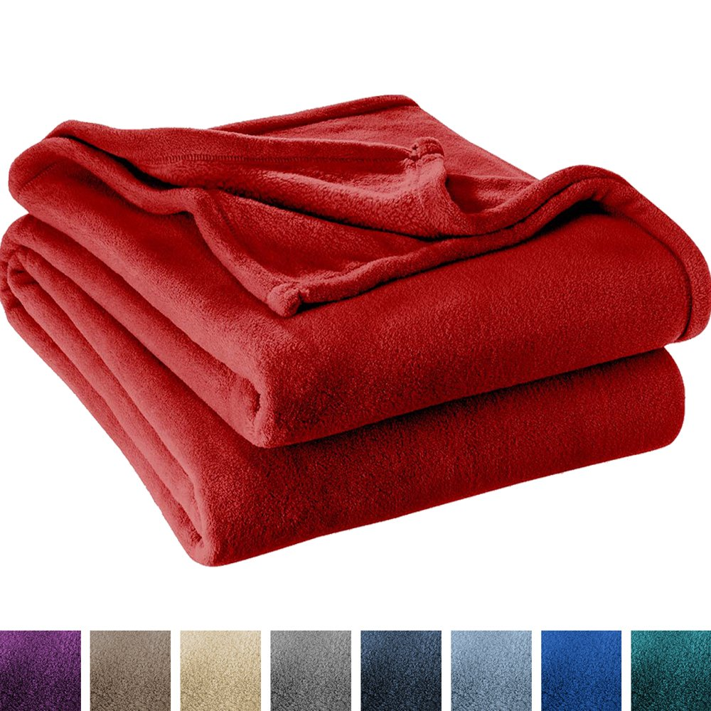 Ivy Union Ultra Soft Microplush Velvet Blanket - Luxurious Fuzzy Fleece Fur - All Season Premium Bed Blanket, Twin Extra Long (Twin XL/Twin, Red)
