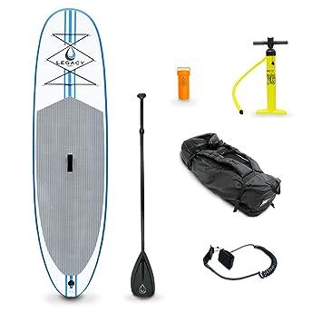 Legacy - Tabla de paddle surf hinchable iSUP con accesorios, 27 cm x 81 cm