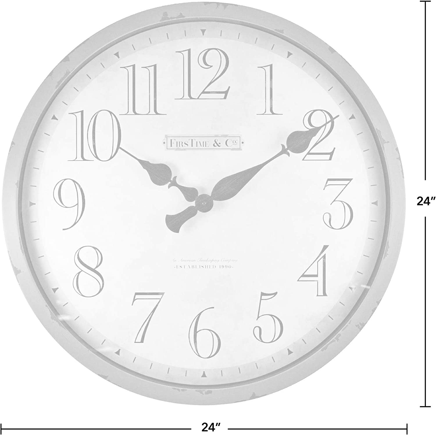 FirsTime /& Co Aged Teal 10065 FirsTime Bellamy Wall Clock 24