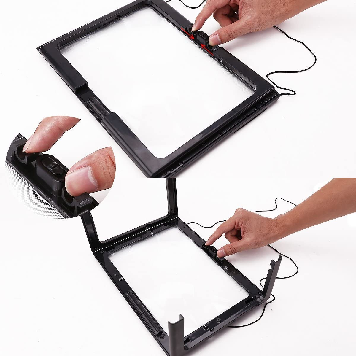 Hands Free Magnifying Glass With Light /& Neck Cord LED Illuminated Magnifier For Reading Sewing Crafts Handcraft Hobby New 1