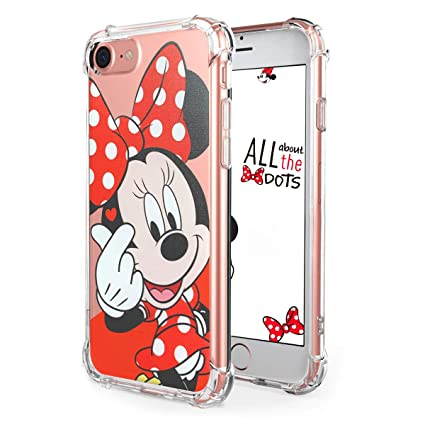 """Logee TPU Minnie Mouse Cute Cartoon Clear Case for iPhone 8/iPhone 7 4.7"""",Fun Kawaii Animal Soft Protective Cover,Ultra-Thin Shockproof Funny Creative ..."""