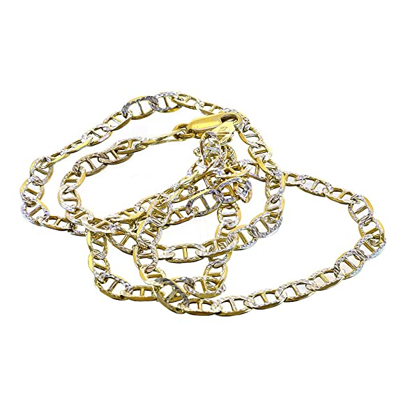 bdd12a297f93d Avital   Co. Gucci Link Diamond Cut Chain Necklace Two Tone Gold Over  Silver 20