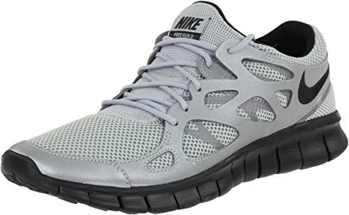 Nike Free Run 2 Sneaker Mens Trainer 537732 009 Silver Shoe Size Eur 42 5 Amazon Co Uk Shoes Bags