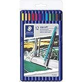 Staedtler ErgoSoft Triangular Colored Pencils, Assorted Colors, Set of 12
