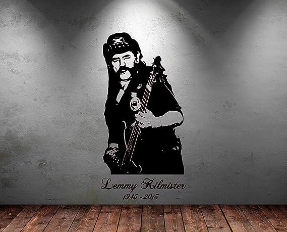 Wandaufkleber Vinyl Sticker Großes Fotomotiv Von Motorhead Frontmann Lemmy Kilmister Inkl Rakel Dunkelblau Large 113cm H X 58cm W Küche Haushalt