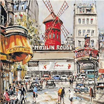 Adarl Funny Jigsaw Puzzle 1000 Piece for Adults, DIY Moulin Rouge Jigsaw Puzzles, Cool and Challenge: Kitchen & Dining