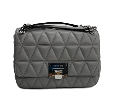 054635bb9380 Michael Kors Vivianne MD Shoulder Flat Pearl Grey (35T8SVAF2T): Handbags:  Amazon.com