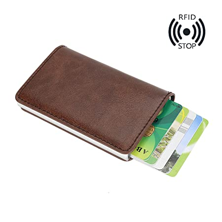 MPTECK @ Marr/ón Cartera para hombre Estilo plegable Monedero Billetera de PU Cuero con Bolsillo para monedas Ranuras Portatarjetas extra/íble