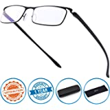 CGID Anti-Blue light Reading Glasses, Computer Readers with TR90 Frame for Men and Women,QKX001