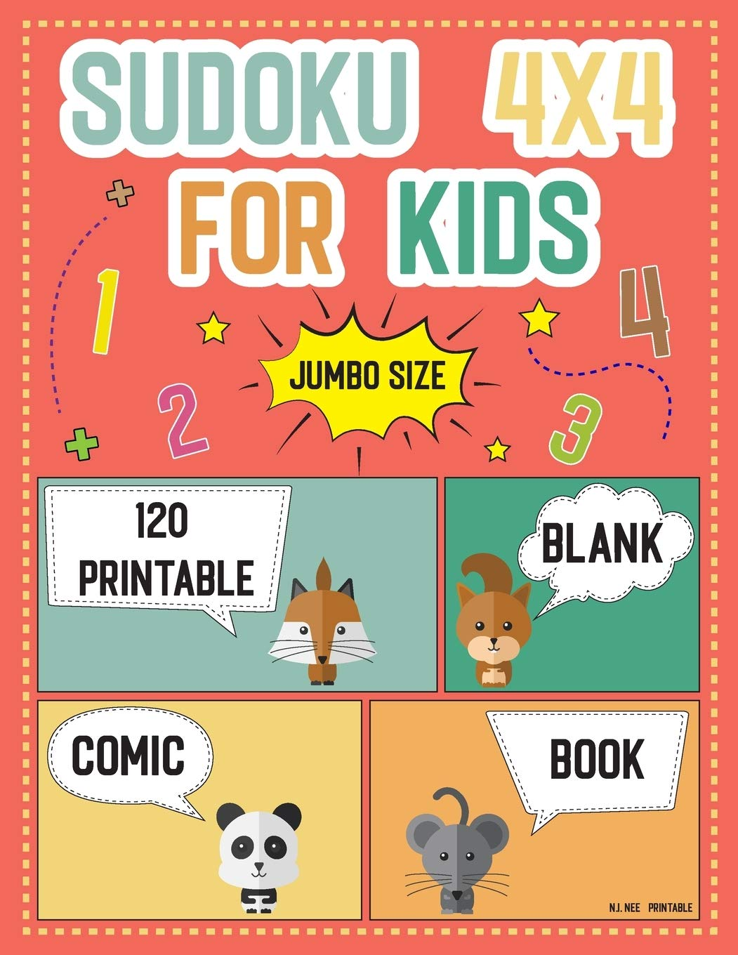 Buy Sudoku 4x4 For Kids Jumbo Size 120 Printable And Blank Comic Book Templates Worksheets Easy To Hard Puzzles For Kids Teens Kindergarten Ages 4 8 Children S Activity Books Book Online At Low