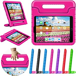 """Greatgo Case for iPad 9.7 Kids Air 1 2 Case Shockproof Childproof Lightweight with Convertible Handle Stand Tablet Case for 6th 5th Generation iPad 9.7"""" Air Case Pink"""
