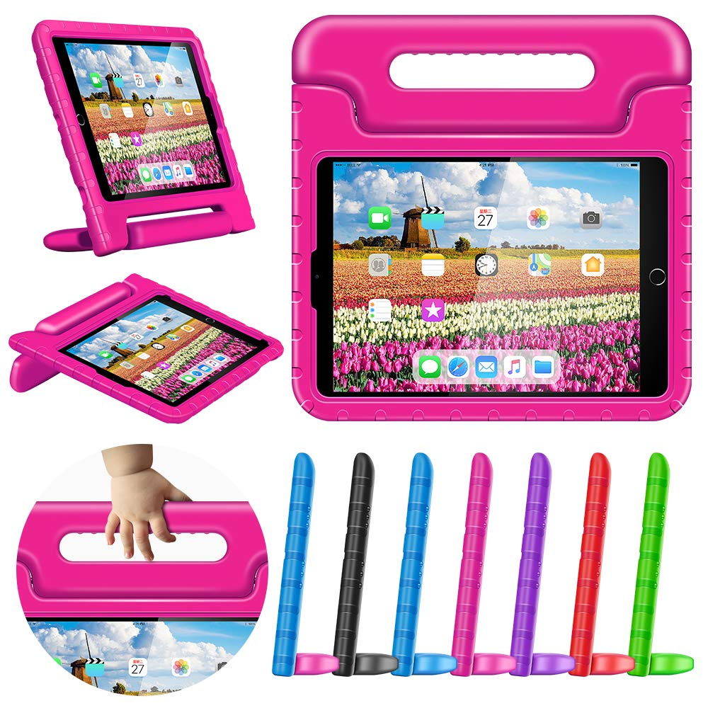 New iPad 9.7 2018 2017 Kids Case 9.7in iPad Air 1 2 Case Shockproof Childproof Lightweight With Screen Protection Convertible Handle Stand Tablet Case for 6th 5th Generation iPad 9.7\