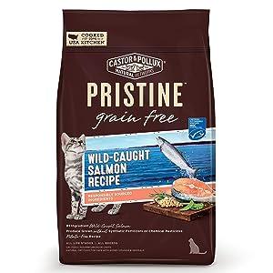 Castor & Pollux Cat Food Dry Gluten Free Salmon, 3 lb