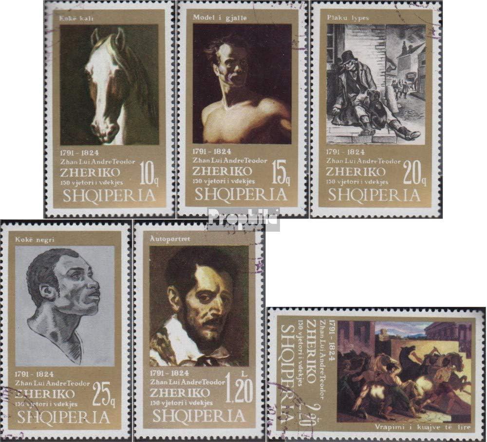 Briefmarken f/ür Sammler 1974 Theodore Gericault Prophila Collection Albanien 1668-1673 kompl.Ausg. Malerei