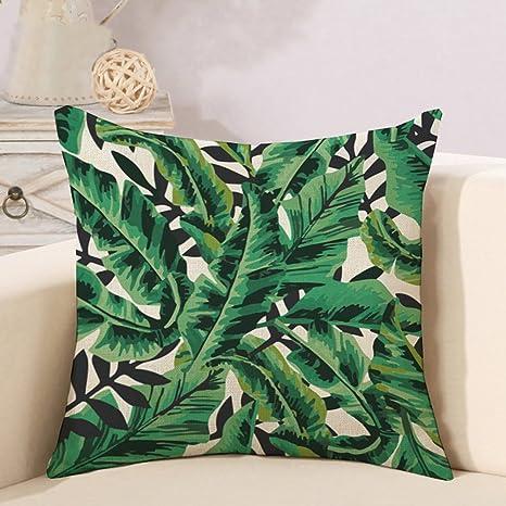Domivon Decorativa almohada tropisch hojas impresión Impreso ...