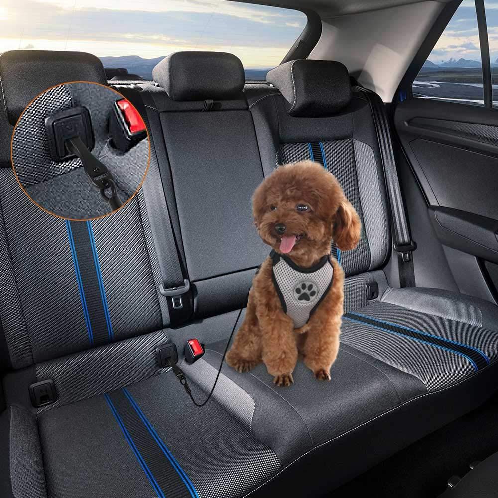 SlowTon Arn/és para autom/óvil, Sin cintur/ón de Seguridad Arn/és de Chaleco para Mascotas para Perros Seguridad en el Coche Cuello Ajustable y Correa para el Pecho