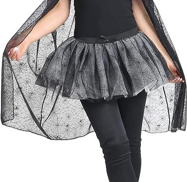 Crazy Chick® Falda de tela de araña para mujer de 4 capas para ...