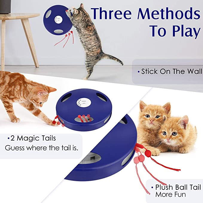 Buy Pawaboo Electric Cat Toy Tail Spin Rat 5 Action Modes Auto