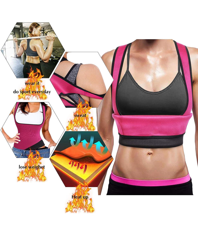 Ursexyly Cute Fat Burner Vest Slimming Neoprene Sauna Suit Waist Trainer Tank Top for Women